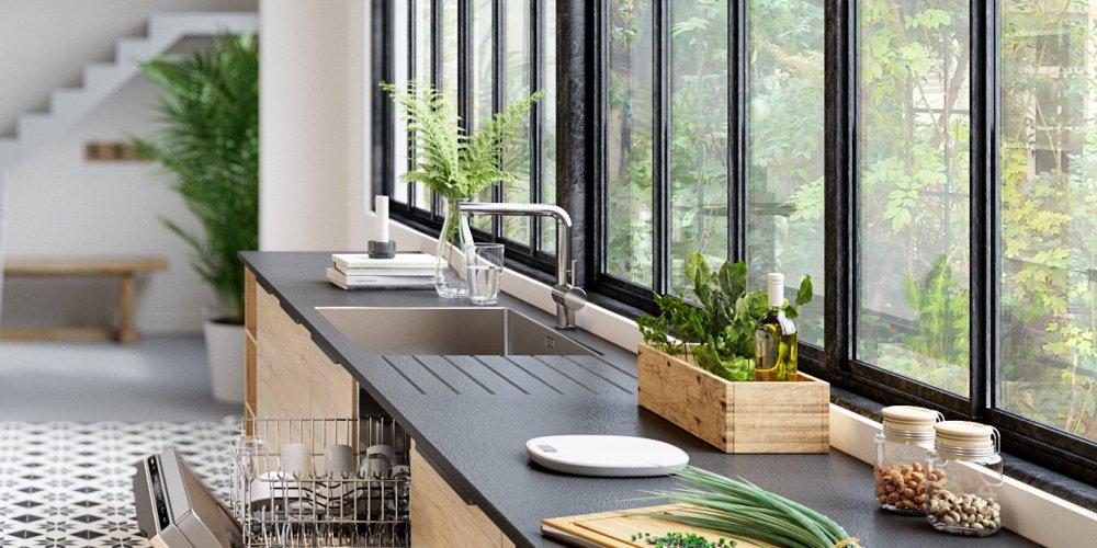 robinet évier de cuisine