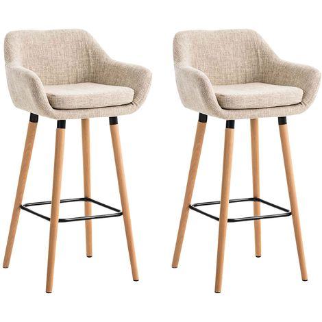 Voici deux chaises de bar très confortable pour passer d'agrèable moments autour d'un verre entre amis.