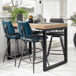 Voici un îlot pour vos cuisines ouvertes en bois pour un aspect chic et chaleureux